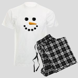 Snowman Face Men's Light Pajamas