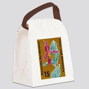 Germany Orchid Postage Stamp Canvas Lunch Bag