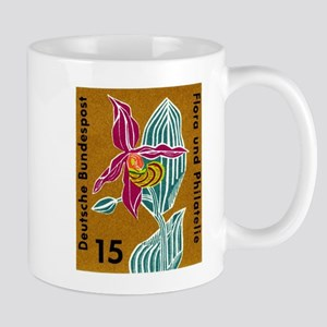 Germany Orchid Postage Stamp Mug