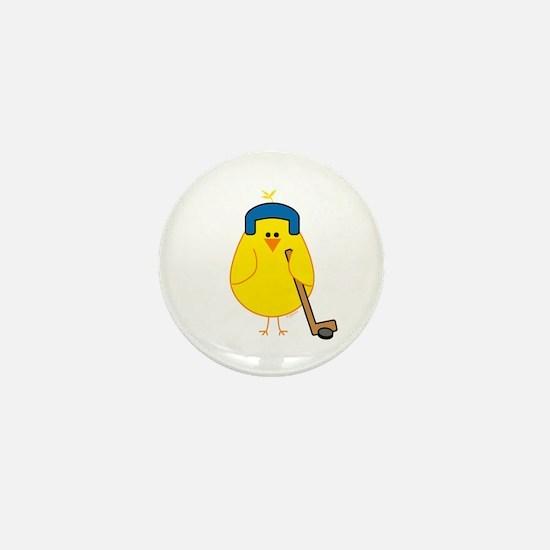Hockey Chick Mini Button