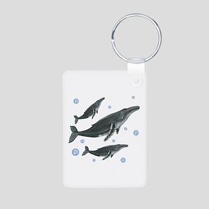 Humpback Whales Aluminum Photo Keychain