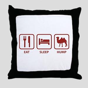Eat Sleep Hump Throw Pillow