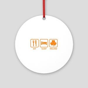 Eat Sleep Ireland Ornament (Round)