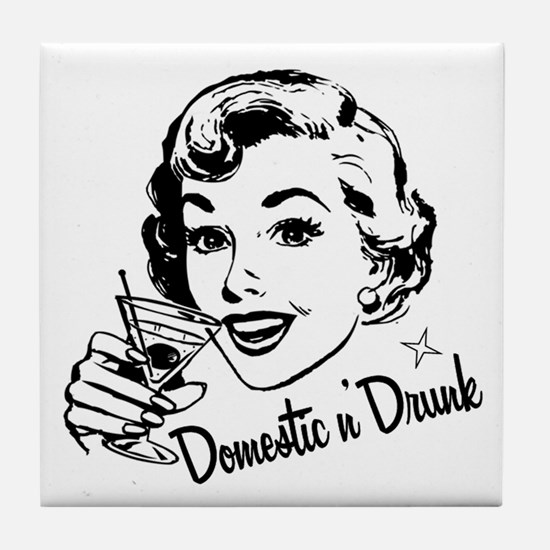 Domestic n' Drunk Tile Coaster
