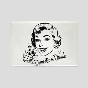 Domestic n' Drunk Rectangle Magnet