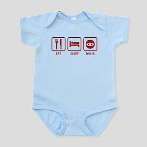 Eat Sleep Ninja Infant Bodysuit