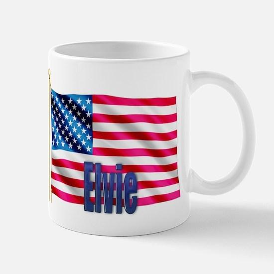 Elvie Personalized USA Flag Mug