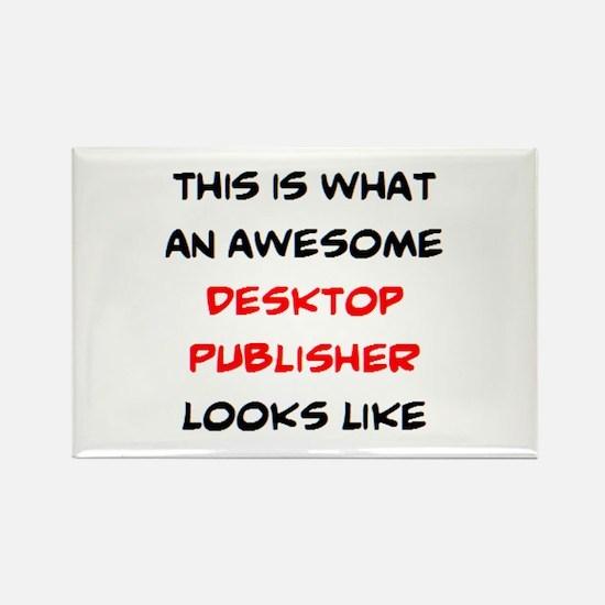 awesome desktop publisher Rectangle Magnet