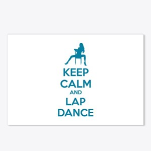 Keep calm and lap dance Postcards (Package of 8)
