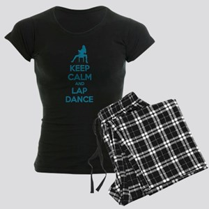 Keep calm and lap dance Women's Dark Pajamas