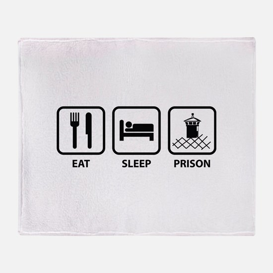 Eat Sleep Prison Throw Blanket