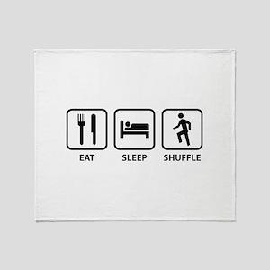 Eat Sleep Shuffle Throw Blanket