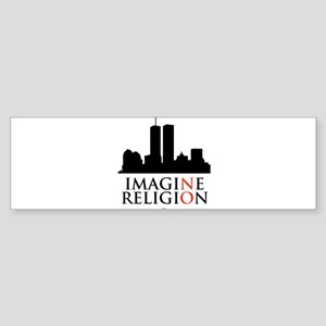 Imagine No Religion Sticker (Bumper)