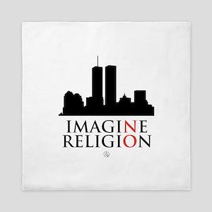 Imagine No Religion Queen Duvet