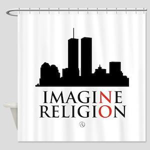 Imagine No Religion Shower Curtain