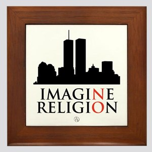 Imagine No Religion Framed Tile