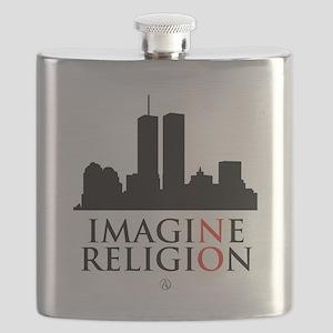 Imagine No Religion Flask