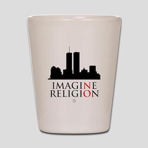 Imagine No Religion Shot Glass