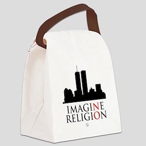 Imagine No Religion Canvas Lunch Bag