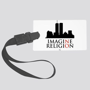 Imagine No Religion Large Luggage Tag