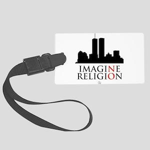 Imagine No Religion Large Luggage Tag