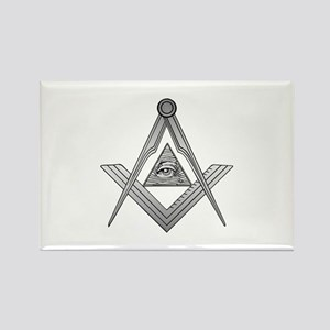 Mason Illuminati Rectangle Magnet