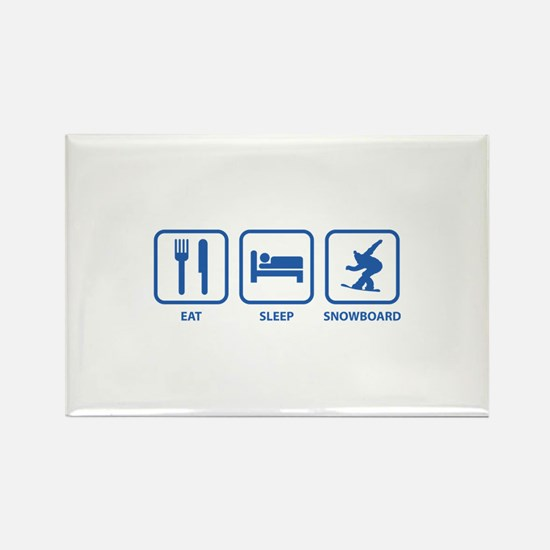 Eat Sleep Snowboard Rectangle Magnet