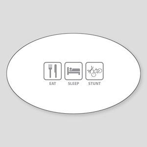 Eat Sleep Stunt Sticker (Oval)