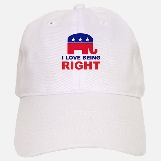 Romney Always right.png Baseball Baseball Cap