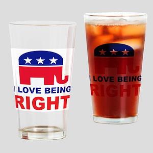 Romney Always right Drinking Glass