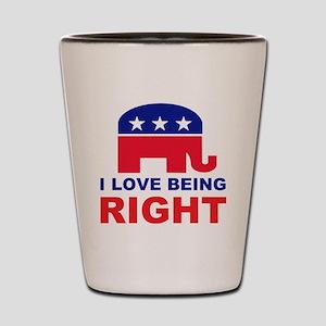 Romney Always right Shot Glass
