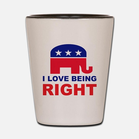 Romney Always right.png Shot Glass