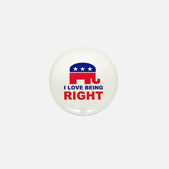 Romney Always right.png Mini Button (10 pack)