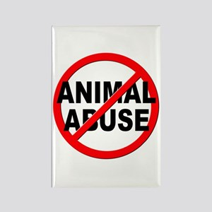 Anti / No Animal Abuse Rectangle Magnet