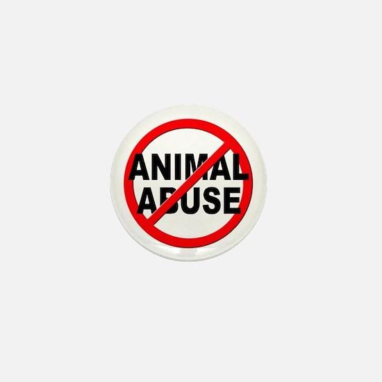 Anti / No Animal Abuse Mini Button