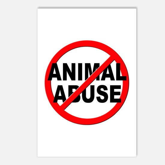 Anti / No Animal Abuse Postcards (Package of 8)