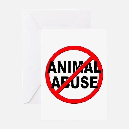 Anti / No Animal Abuse Greeting Card