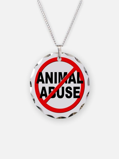 Anti / No Animal Abuse Necklace