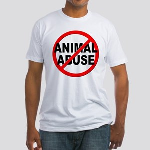 Anti / No Animal Abuse Fitted T-Shirt