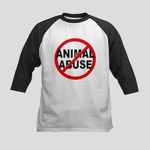 Anti / No Animal Abuse Kids Baseball Jersey