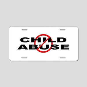 Anti / No Child Abuse Aluminum License Plate