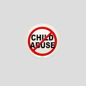 Anti / No Child Abuse Mini Button