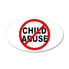 Anti / No Child Abuse Wall Decal