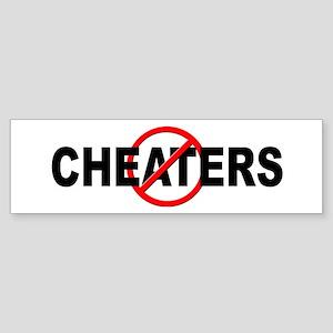 Anti / No Cheaters Sticker (Bumper)