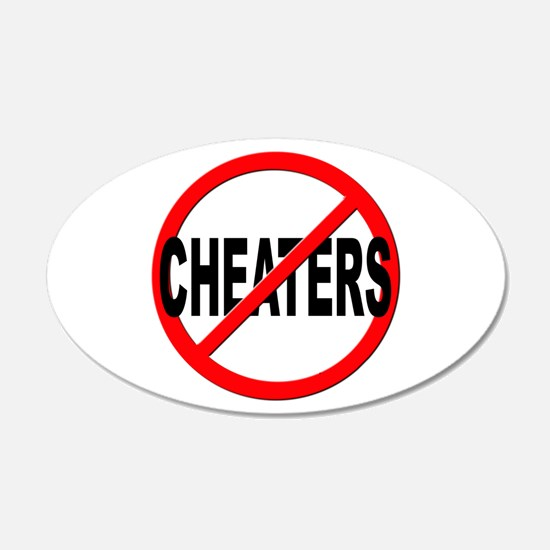 Anti / No Cheaters Wall Decal