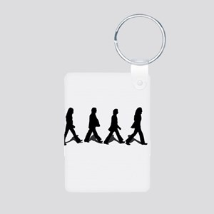 Zebra Crossing Aluminum Photo Keychain
