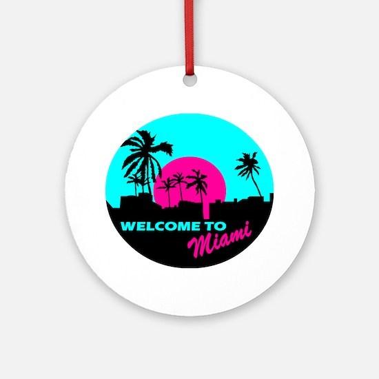 Welcome to Miami Ornament (Round)