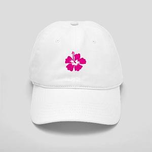 Hot Pink Hibiscus Flower Cap