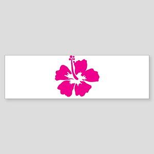 Hot Pink Hibiscus Flower Sticker (Bumper)
