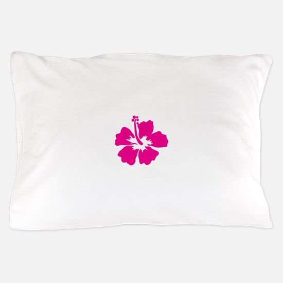 Hot Pink Hibiscus Flower Pillow Case